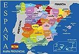 Postal Mapa Provincial de España Azul 16x11 cm.