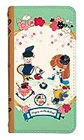[iPhoneSE(第1世代)] ベルトなし スマホケース 手帳型 ケース アイフォンエスイー 8139-C. アリスのワンダーパーティ かわいい 可愛い 人気 柄 ケータイケース まーち
