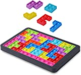 Tetris It Pop Puzzle with Board Silicone Building Blocks Fidget Toys Jumbo Big Push It Pop Fidget Bubble Sensory Fidget Toys, Tetris Jigsaw Puzzle Toys Popper Stress Pressure Relieving Squeeze Toys