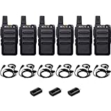 Retevis RT19 Walkie Talkie Radios Rechargeable Hands-free Two Way Radio with Headsets(6 Pack)