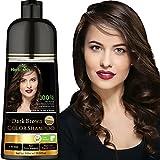Herbishh Hair Color Shampoo for Gray Hair – Natural Hair Dye Shampoo – Colors Hair in Minutes–Long Lasting–500 Ml–3-In-1 Hair Color–Ammonia-Free | Herbishh (Dark Brown)