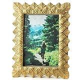 running 18C270 Decora Figuras Selva Portaretrato de poliresina Dorado Hojas, Color, Pack of/Paquete de 1