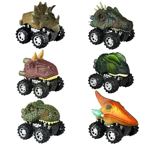 Dinosaur Toys for Kids 3-5, dmazing Pull Back Cars for Toddlers Dinosaur Cars for Boys Age 3-6 Dinosaur Trucks for Boys 3 to 5 Years Toddler Boy Toys Unique Birthday Gifts for 3 Year Old Boy