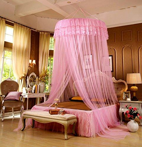 LifeWheel romantische prinses ronde kant koepel bed netten luifel gordijn muggennet