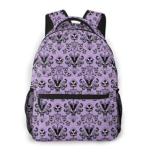 Lightweight College Book Bags,Laptop Bags,Adult Travel Rucksack,Men Women Daypack,Boys Girls Casual Backpack,Haunted Mansion Purple