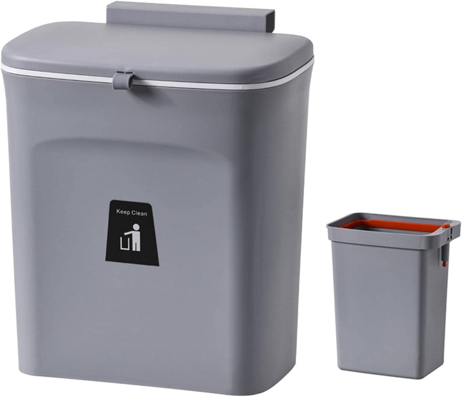 Maril Weekly update Kitchen Trash Can Wall-Mounted Barrel List price Inner with Automatic