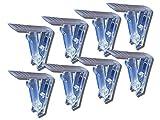 K&B Vertriebs GmbH - Fermatovaglia in plastica trasparente (8 pezzi)