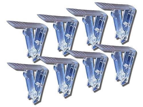 K&B Lot de 8 Pinces à Nappe en Plastique Transparent