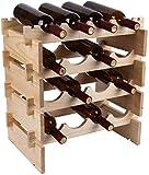 Wghz Estante para Vino Estante para Vino de Madera Soporte para Vino clásico Creativo Moderno Estante para Almacenamiento de Botellas de Vino Estante para exhibición de Barra para el hogar Soport