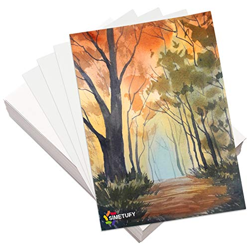 Superise 300gsm Watercolor Paper 40 Sheets, 7.68x10.63 inches Painting Paper for Art Supplies, Drawing Paper for Arts and Crafts, 19.5x27cm(16K)