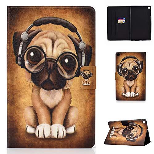 Lspcase Galaxy Tab A 10.1 Zoll 2019 Hülle PU Leder Flip Case Cover Magnetisch Ständer Tasche Tablet Schutzhülle mit Kartenfach für Samsung Galaxy Tab A 10.1 SM-T510 / SM-T515 Welpe