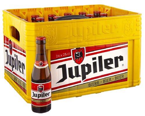 Original belgisches Bier - Jupiler Pils (Ohne Kasten) 24 x 25 cl. Karneval und Party!!