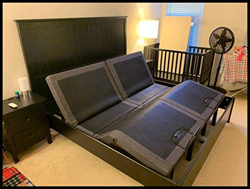 """Split Queen 30"""" X 80"""" Sides Electric Adjustable Bed 12"""" Memory Foam MATTRESSES with Dual REMOTES/Head and Foot Incline"""