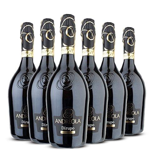 Valdobbiadene Prosecco Superiore DOCG Dirupo Extra dry - 6 bottiglie 75 cl - Andreola