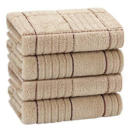EliteBond - Set di asciugamani da cucina assorbenti in cotone, 34 cm x 74 cm, set di asciugamani da cucina in spugna di cotone