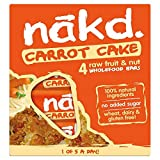 Nakd barras Cake zanahoria/Carot Cake–sin gluten, sin lactosa, Crue Certificado Paléo, Vegan   4barras   Nakd