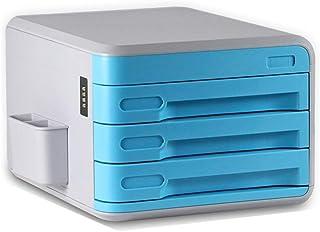 Classeur avec classeur à tiroirs Information Office A4 classeur petit classeur en plastique Armoire de bureau (Color : Lig...