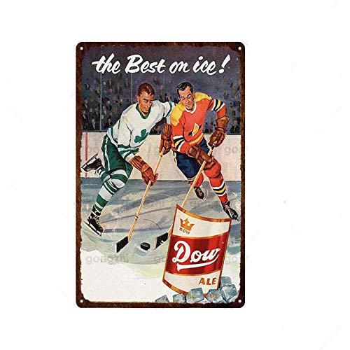 LCCNE Hockey Boxeo Fútbol Metal Cartel de Chapa Danza Entrenamiento Pegatinas de Pared Placa de la Vendimia Decoración del hogar Tienda Gimnasio Pintura de Hierro 20x30cm 19