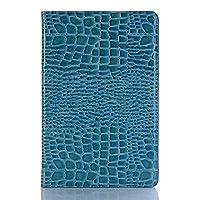 JDDR タブレットケース、 クロコダイルレザーフリップスタンド三星銀河Tab S4 10.5インチ2018 SM-T830 / T835に対応軽量タブレットケースカバー (色 : 青)