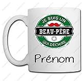 Linyatingoshop Mug Je suis Un Beau-père Qui déchire - Mug personnalisé avec Votre prénom