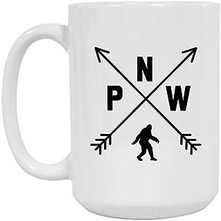 PNW Pacific Northwest Bigfoot / Sasquatch Novelty Coffee Mug (Large, 15 Oz)