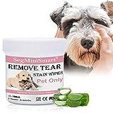 SEGMINISMART Toallitas Limpiadoras para los Ojos de Perros y Gatos 100 toallitas de algodón húmedo...