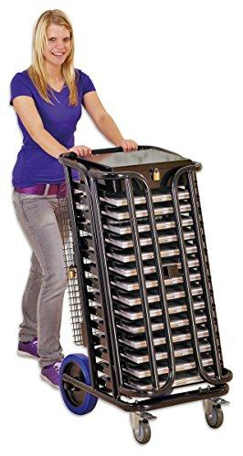 con ruedas para ordenador portátil–con estantes para 14Laptops Incluye Accesorios Box–Safe Laptop...