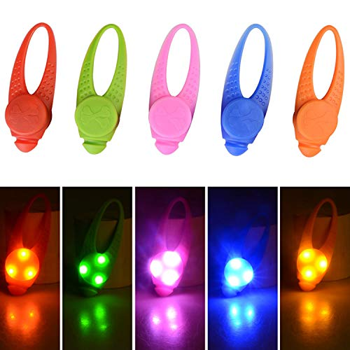5-Pack LED Light Up Dog Collar Light, Waterproof Dog Cat Pet Safety Strobe Harness Leash Necklace Lights for Large Medium Small Dogs at Night Time Walking Camping Warning Reflective Gear Accessories