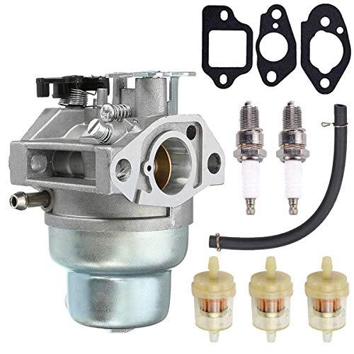 N/C ZAMDOE GCV160 carburador Repuesto Kit para Motor Honda GCV160A GCV160LA GCV160LE HRB216 HRR216 HRS216 HRT216 HRZ216 Cortacésped con bujía, línea de Combustible, Filtro de Combustible, Juntas