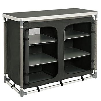 CampFeuer Meuble de camping / cuisine de camping avec armature en aluminium - dimensions (L x l x h) : env. 102x 47 x 82cm
