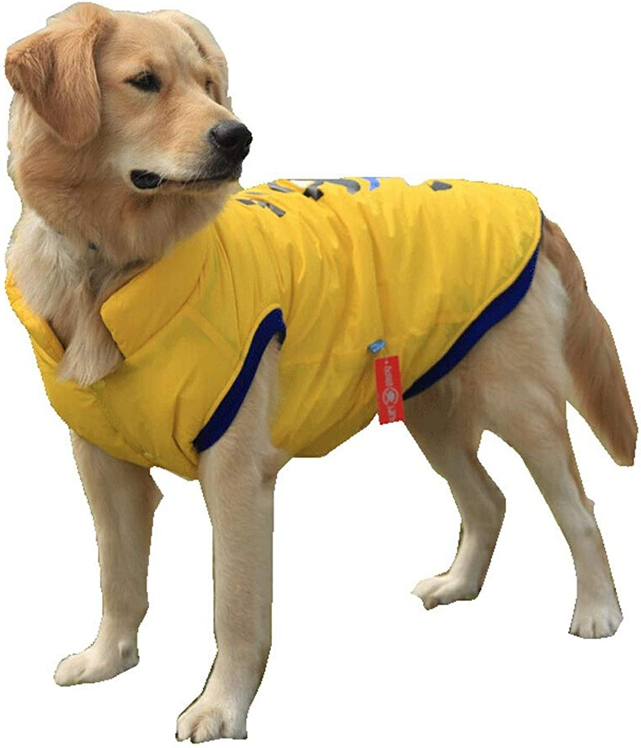 Pet Clothes  Dog Autumn and Winter Coat Thickening Large Dog Clothes (color   Yellow, Size   XXXL)