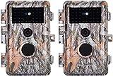 """2pz Fotocamera de Caccia Telecamera da Caccia, 20MP 1080P No Glow Telecamere per Animali Selvatici, Motion Activated, IP66 Impermeabile con 36pcs Black IR LED Night Vision, Schermo LCD da 2,31"""""""