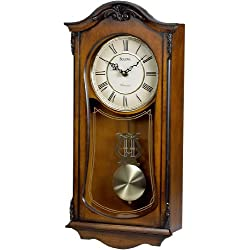 Bulova Cranbrook Wall Clock With Westminster Chime Model C3542