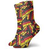 Gre Rry Unisex Erwachsene Jugendliche Deutschland Fahnen Crew Socken Neuheit Kleid Dicke Warme Socken