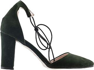 Ayakland 137029-1160 9 Cm Topuk Bayan Süet Sandalet Ayakkabı YEŞİL