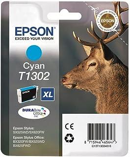 EPSON T1302 atrament cyan bardzo wysoka pojemność 10,1 ml 1 opakowanie blister bez alarmu - DURABrite Ultra Ink