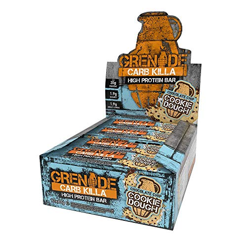 Grenade Carb Killa Bars, Chocolate Chip Cookie Dough 12 Bars