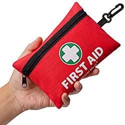 First aid Mini Kit- For backpackers and hikers, I would consider getting lighter and smaller kit. This one has 92 pieces in it (Price 10.99$):