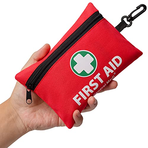 Mini First Aid Kit, 110 Pieces Small First Aid Kit...