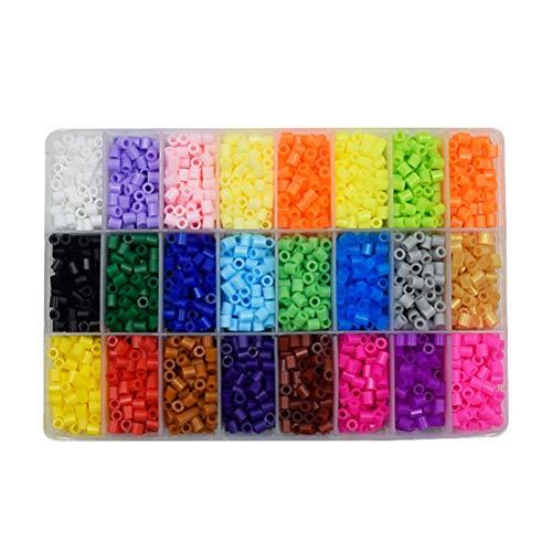 Tangram Puzzle Beads Incluyen Pegboard Hama Beads DIY Mini PUPUKOU con Perler Tools Rompiendo Juguetes para niños