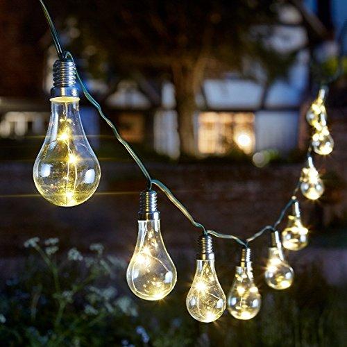 Smart Solar 1060100 ALTUNA 1060100-Guirnalda 10 bombillas Eureka, Multicolore