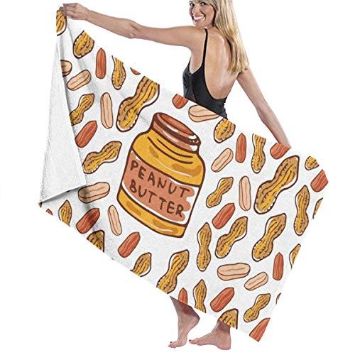 Toallas Shower Towels Beach Towels Bathroom Towels Toalla De Baño Toallas de baño para piscina con mantequilla de maní Toalla 130 x 80 CM