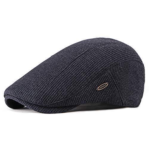 Adantico Unisex de la Boina Gorra de Invierno Sombrero de Punto (Azul Oscuro)