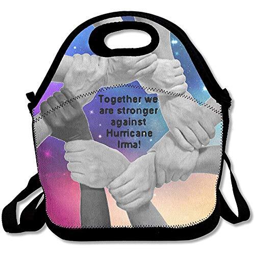 Bolsas de almuerzo de neopreno Cajas,correa ajustable,bolsa de viaje de picnic reutilizable Hurricane Irma Bolso de mano para almuerzo al aire libre para hombres,mujeres,adultos,niños,enfermeras