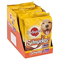 Pedigree Schmackos are full of meaty flavours, designed to be a healthy and nutritional treat, an optimum choice for training and rewarding Packed with dog-friendly ingredients and a ideal taste, Schmackos are a soft and scrumptious way of treating y...