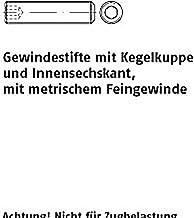 Schroefdraadpennen ISO 4026 45 H M 12 x 1,25 x 25 VE=S 100 stuks