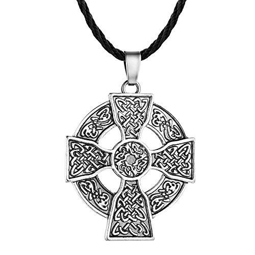 VAWAA Antike Silber Armenischen Kreuz Anhänger Halskette Ethnische Halsketten Bronze Zarte Männer Schmuck