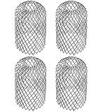 Ncheli 4 pcs Filtros de Canaletas de Mallas Protectores,Protector de canaletas Filtro de hojas Tamiz de Canaletas Filtro para Canalones para Desagües de Canalones, Bajantes