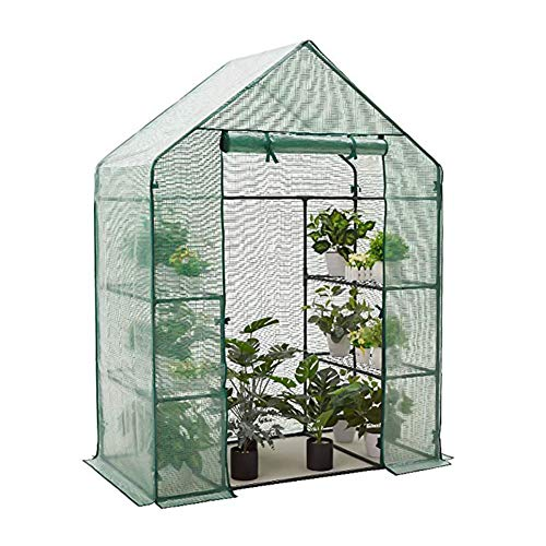 Canghai Mini Greenhouse Home Garden Greenhouse Plants Pe Plant Cover, Indoor And Outdoor 4-layer Portable Greenhouse. Update Durable Pe Material Mesh Cover(143 * 73 * 195cm)
