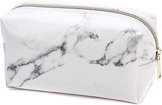 JAWSEU Pennskrin marmor stor kapacitet PU-läder pennväska skolhållare pennfodral pennfodral pennfodral kontorsmaterial för...